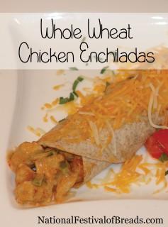 Image: Whole Wheat Chicken Enchiladas.