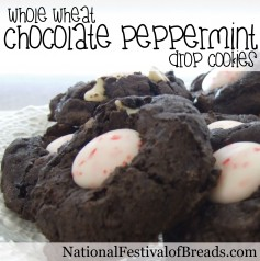 Photo: Whole Wheat Chocolate Peppermint Drop Cookies.