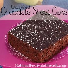 Image: Whole Wheat Chocolate Sheet Cake.