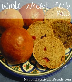 Image: Whole Wheat Herb Rolls.